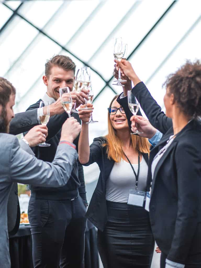 business-team-toasting-during-a-break-picture-id935774674